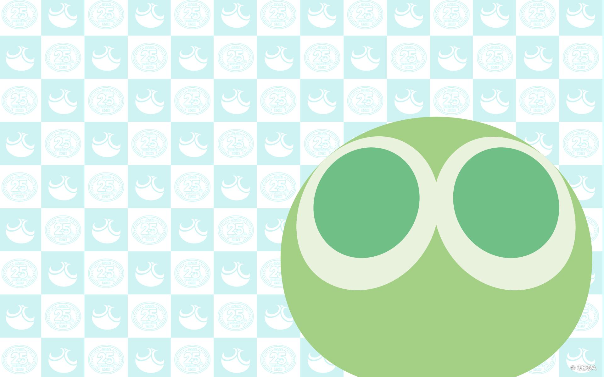 大きな緑ぷよのぷよぷよの壁紙